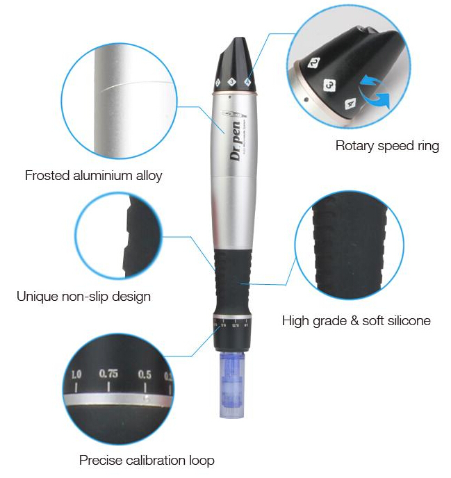 Dr.Pen Ultima A1 Electric Derma Pen With 2 Pcs Microneedles Mesotherapy Auto Micro Needle Pen Microneedling System Meso Machine