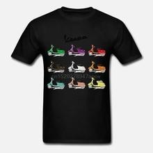2019 nueva Camiseta de algodón Vespa Italia colección-Moto-Scooter-Póster Vintage-Camiseta de moda para hombre