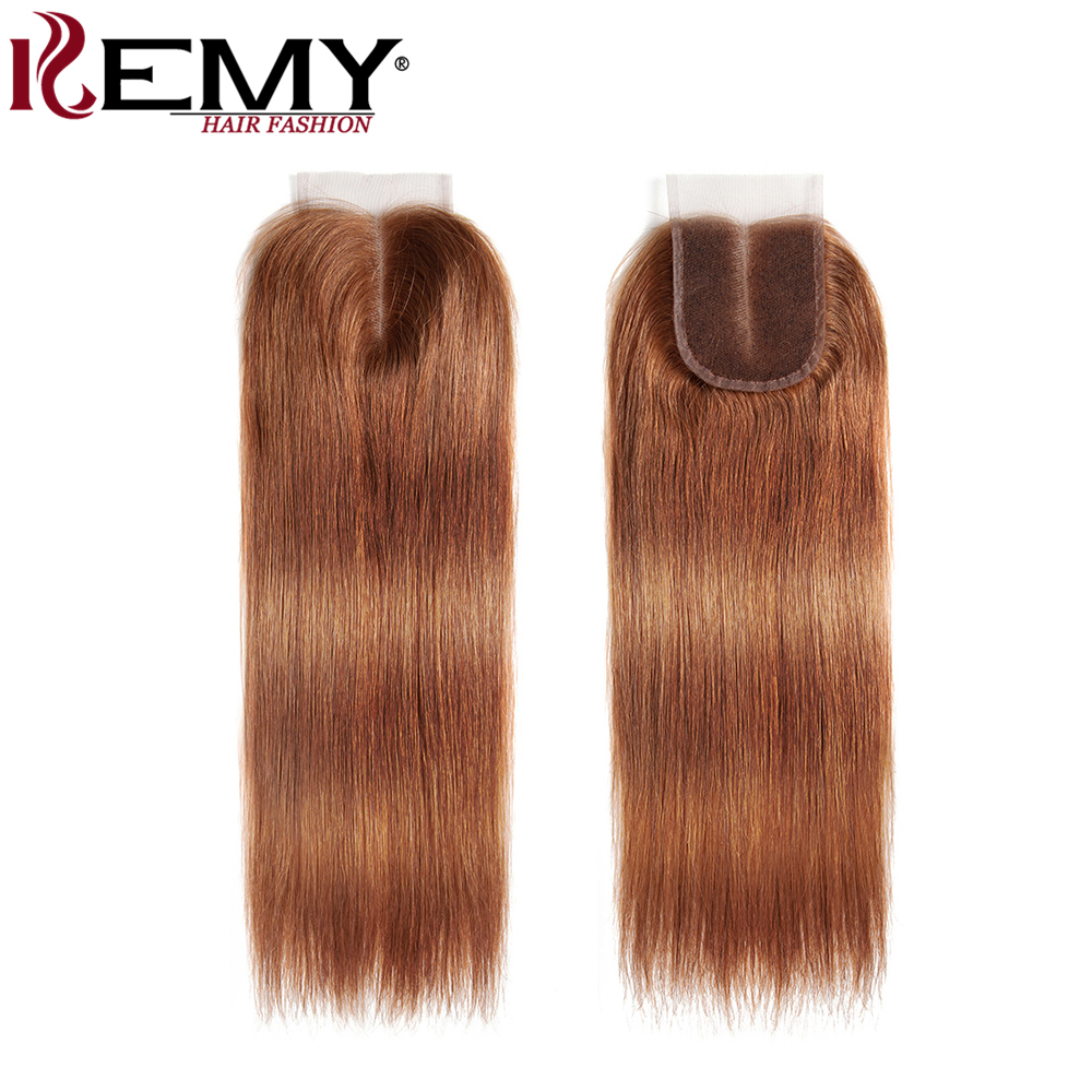 Image 5 - Brazilian Straight Human Hair Bundles With Closure KEMY HAIR 3PCS Brown Hair Weave Bundles With Closure Non Remy Hair Bundles-in 3/4 Bundles with Closure from Hair Extensions & Wigs