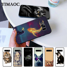 cat kitty cute Silicone Case for Samsung S6 Edge S7 S8 Plus S9 S10 S10e Note 8 9 10 M10 M20 M30