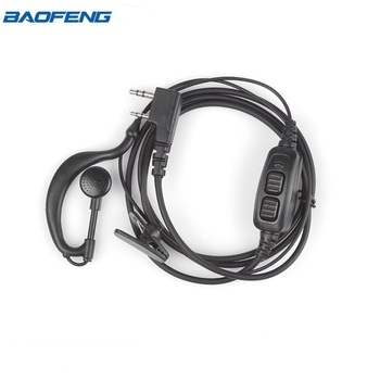 BAOFENG Accessories Original  Dual PTT Baofeng Headset Earpiece With Mic For Baofeng UV-82  UV 82 UV82L UV-89 2-way Radio
