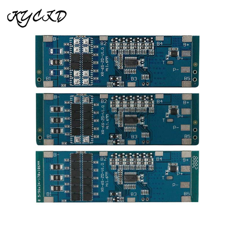 BMS 6S 22.2V 10A 20A 30A 18650 Li-ion Lithium Battery Charger Protection Board with Balancer BMS 6S
