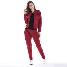 цена на Women Two Piece Outfits Long Sleeve Suit Cardigan Coat + Trousers Fashion Two-piece Women Clothes Tracksuit Women Club Outfits