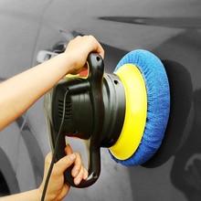 Gorro de microfibra de abrillantado para coche, sombrero polar de algodón no tejido de microfibra para pulidor de coche de 9 10 pulgadas, 22 Uds.