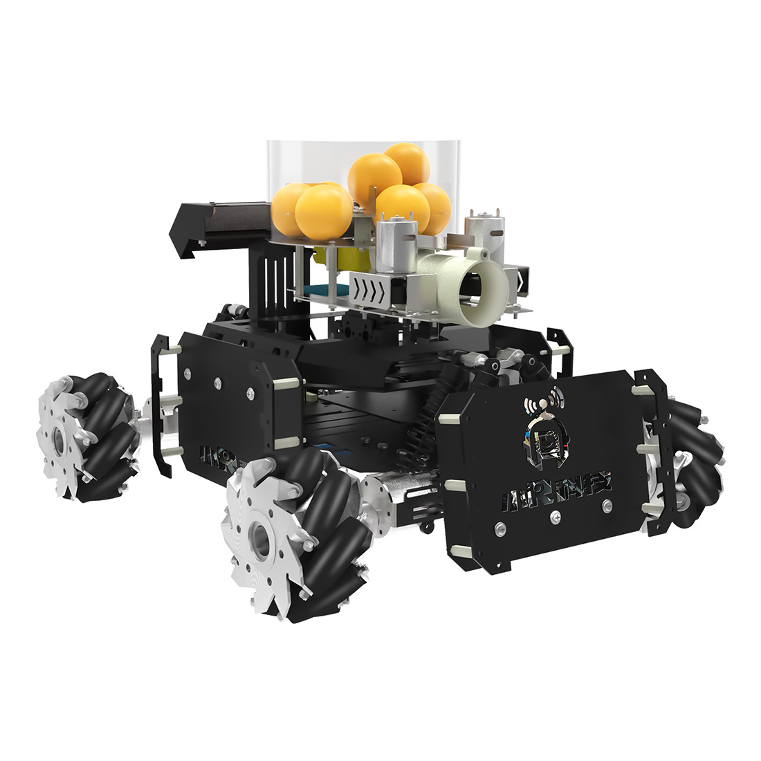 DIY Steam Omni Wheel Turret Chariot VR Video Wifi Control XR Master Intelligent Programmable Battle Robot For STM32 - Black