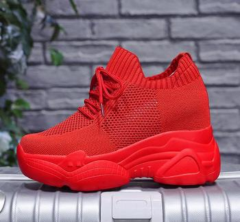 Women Autumn Platform Sneakers Women Chunky Causal Dad Shoes Woman Thick Sole Ladies Vulcanize Shoe Laces Chaussures Femme 34-40 2