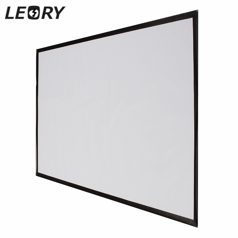 16:9 Portable Projector Accessorie Screen 100 Inch PVC Projection Screen Matt White Fabric For Game Office Meeting Home Theater