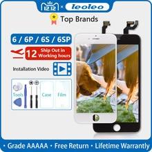 Белый и черный AAAAA абсолютно для iPhone 6 6G ЖК-дисплей кодирующий преобразователь сенсорного экрана в сборе для iPhone6 4,7 ''без битых пикселей+ подарок