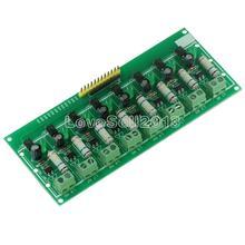 AC 220V 8 kanałowy MCU TTL poziom 8 Ch izolacja transoptorowa płyta testowa izolowany moduł testera wykrywania procesory PLC