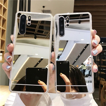 Mirror Phone Case Soft Cover for Samsung Galaxy S8 S9 S10 S20 Plus Note 8 9 10 Pro Lite A6 A8 A7 A9 J4 J6 J5 J7 Prime J8 2018 image