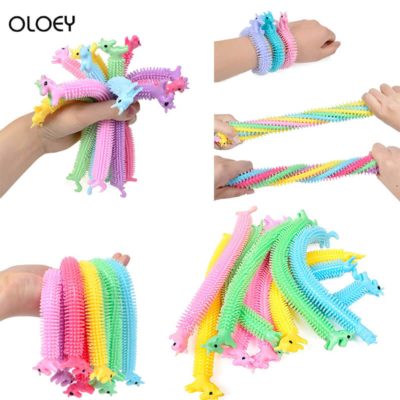 Stress Toy Fidget-Toys Unicorn Noodles Like Popit Simple Dimple 19CM Fitness-Tools Functions