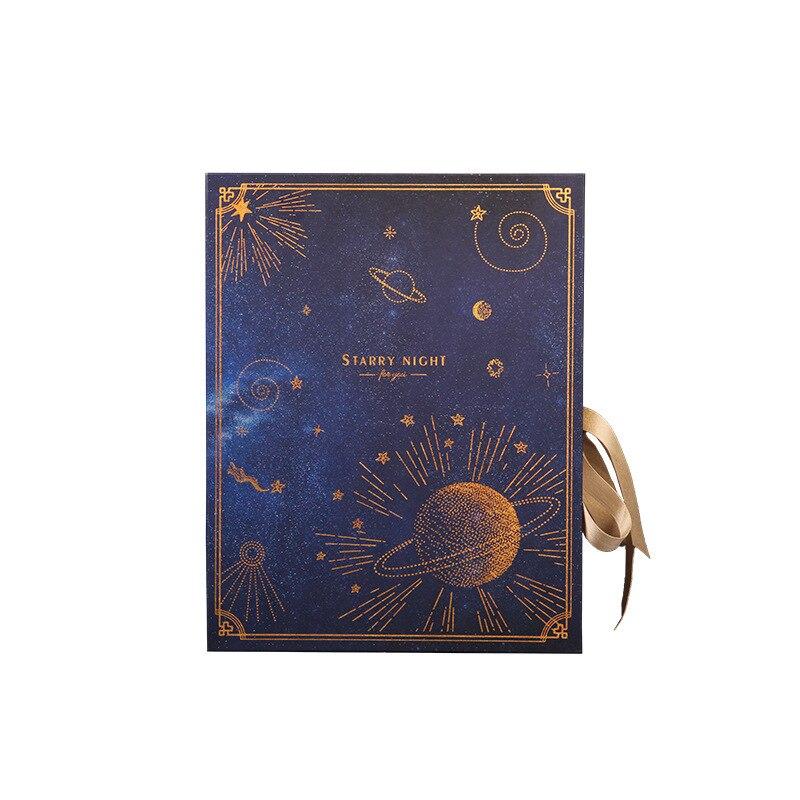 Caixa de presente dos namorados estrelas céu estrelado casamento festa livro namorada presente caixa parceiro mão presente embalagem deusa caixa de boxe