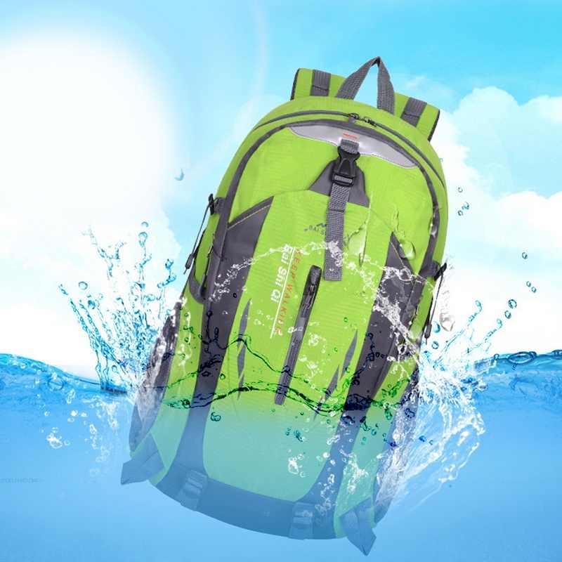 LOOZYKIT 男性 40L 防水旅行バックパック backbag ハイキングサイクリング屋外女性盗難スポーツバッグ