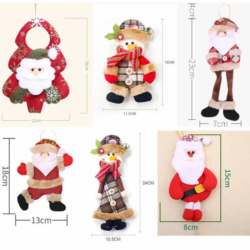Decoración colgante de Navidad juguete exterior árbol de Navidad adorno colgante Santa Claus muñeco de nieve oso alce muñeca para decoración del hogar regalo para niños