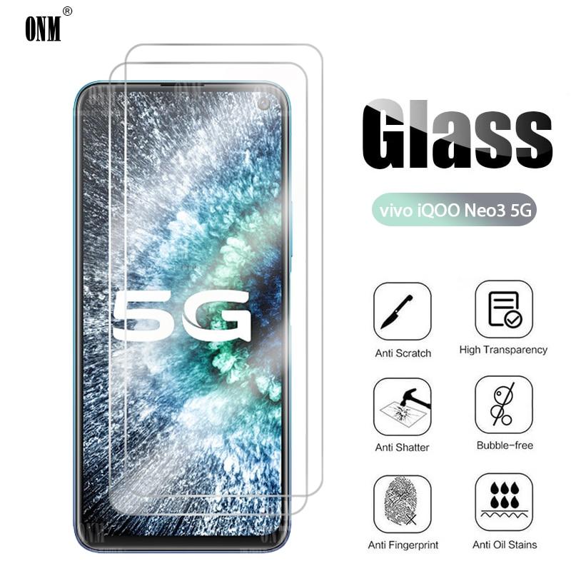 2Pcs IQOO Neo3 Tempered Glass For Vivo IQOO Neo 3 5G Screen Protector For Vivo IQOO Neo 3 5G Protective Glass Film