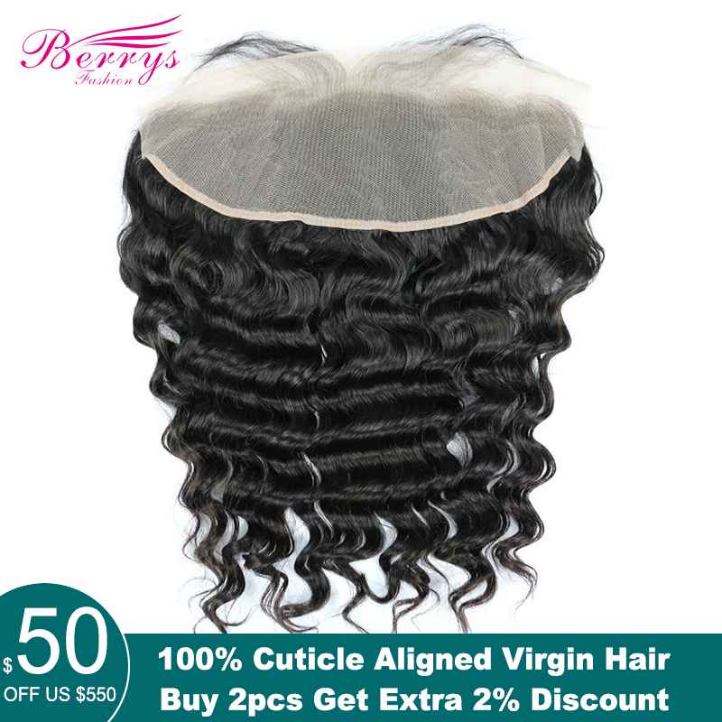 Berrys Fashion TRANSPARENT Lace Frontal Loose Wave 13x4 Virgin hair lace frontal with Baby Hair