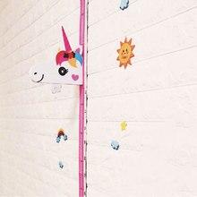 Съемный Настенный стикер для детской комнаты, магнитный декор, Мультяшные животные, жираф, высота, линейки, измерение роста, настенные комнаты, искусство