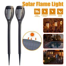 12 LED Solar Flame Lamp Outdoor Torch Lights Safety Waterproof Light Flicker Lights for Garden Decoration Automatic On Dusk