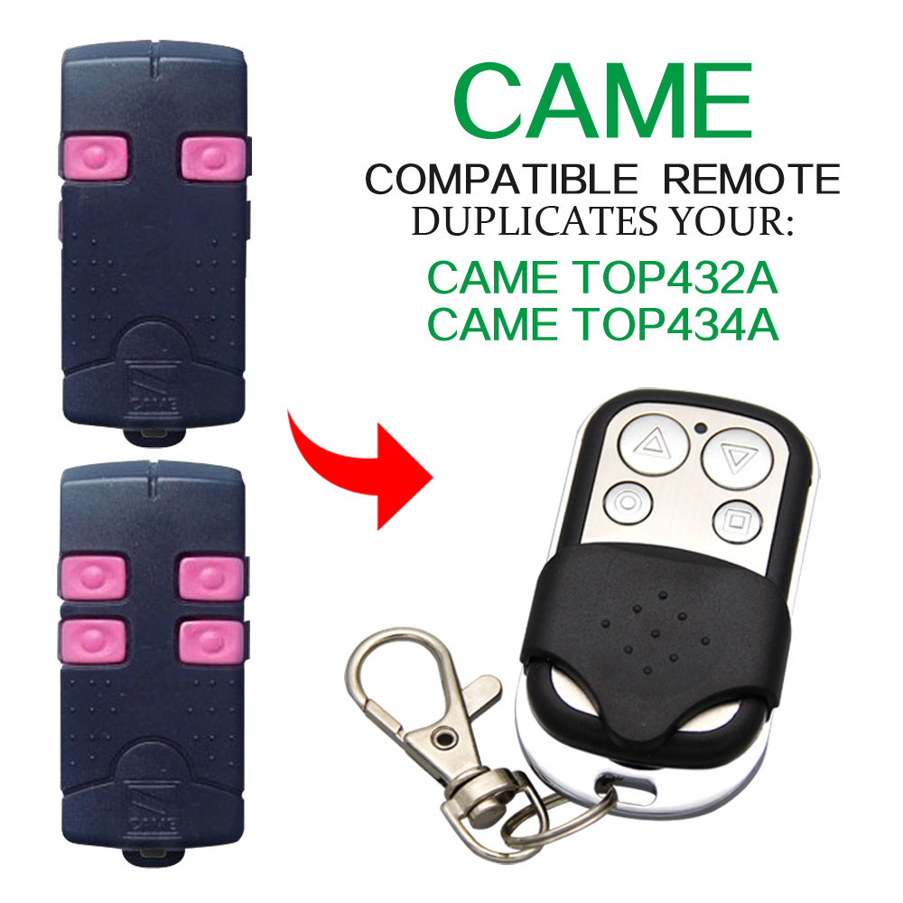 CAME TOP432A TOP434A Remote Control 433.92mhz Copy Compatible Garage Door CAME TOP432A TOP434A 433mhz 433.92mhz Remote Control