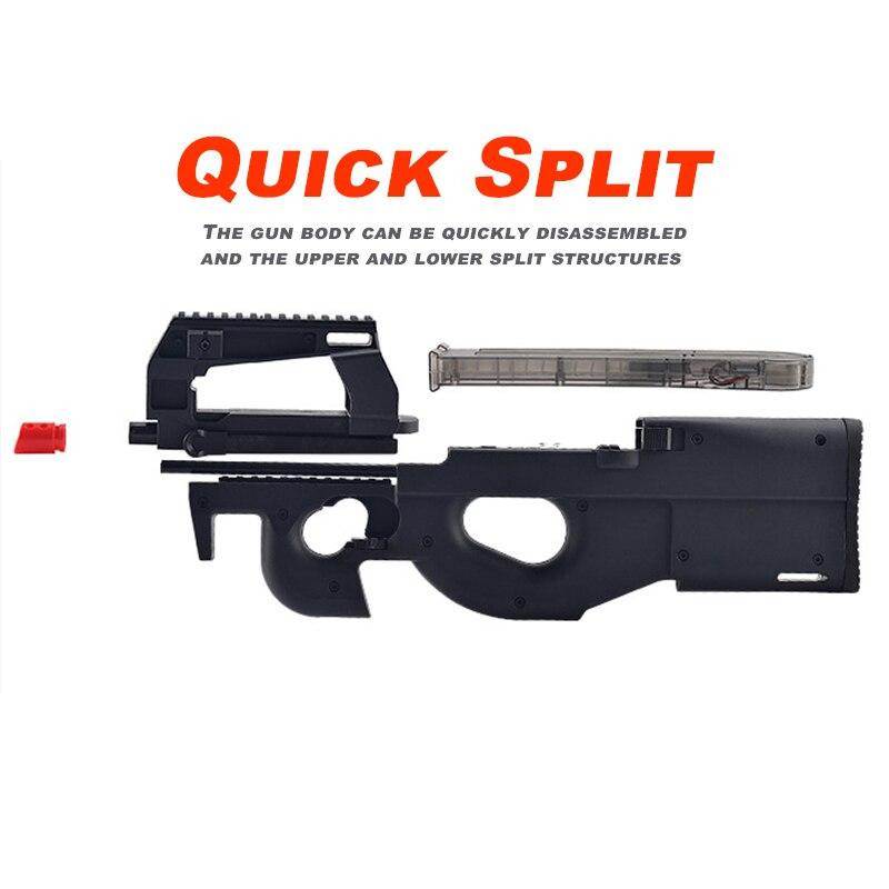Third Generations P90 Toy Gun Nylon Rubber Texture Electric Blaster Water  Rifle Gun Pink Black Outdoor CS Game Toys For Boys