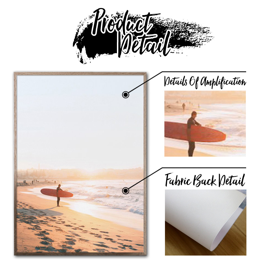 Beach Wave Sea Pier Wall Art Canvas Painting Print Nordic Canvas Posters And Prints Landscape Wall Pictures For Living Room in Painting Calligraphy from Home Garden