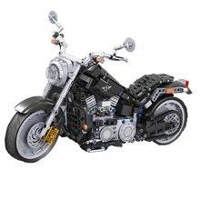 Kazanan 709 adet 7049 montajlı yapı taşları 1:6 amerikan motosiklet Model oyuncaklar çocuklar için
