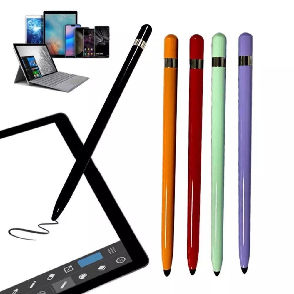 デュアルヘッドスタイラスポータブルタブレットスマートフォンペンユニバーサル交換ソフトペン書き描画容量性タッチスクリーン鉛筆