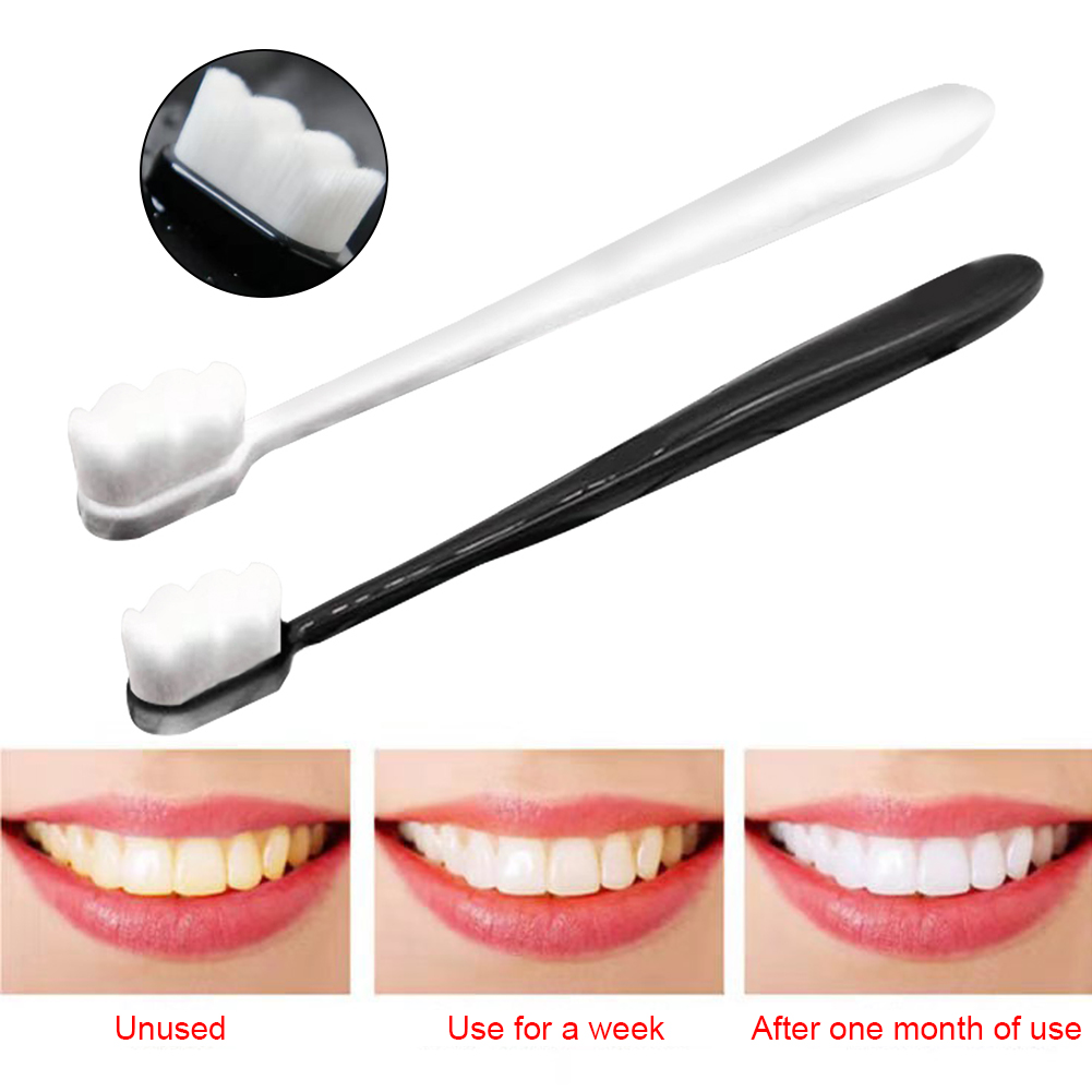 Anti Dental Stain Remove Manual For Sensitive Teeth Oral Care Travel Portable Extra Soft Toothbrush Ultra-fine Fiber image