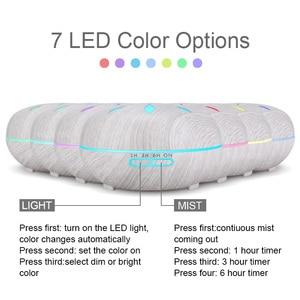 Image 2 - Kbaybo 550 Ml Essentiële Olie Diffuser Luchtbevochtiger Wit Hout Afstandsbediening Aromatherapie Mist Maker Led Nachtlampje Voor Thuis