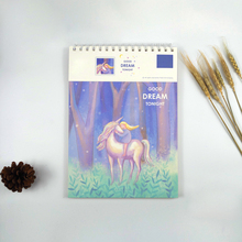 ZYWJUGE A4 Unicorn Watercolor Paper Sketch Book Portable Sketchbook Graffiti Sketch Hand Painting