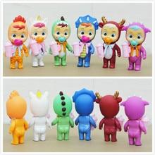 6 шт./компл. 12 см Magic плакать куклы Lol игрушка питьевой воды и плача, для маленьких девочек игровой дом рисунок, носки для детей подарок на день ...