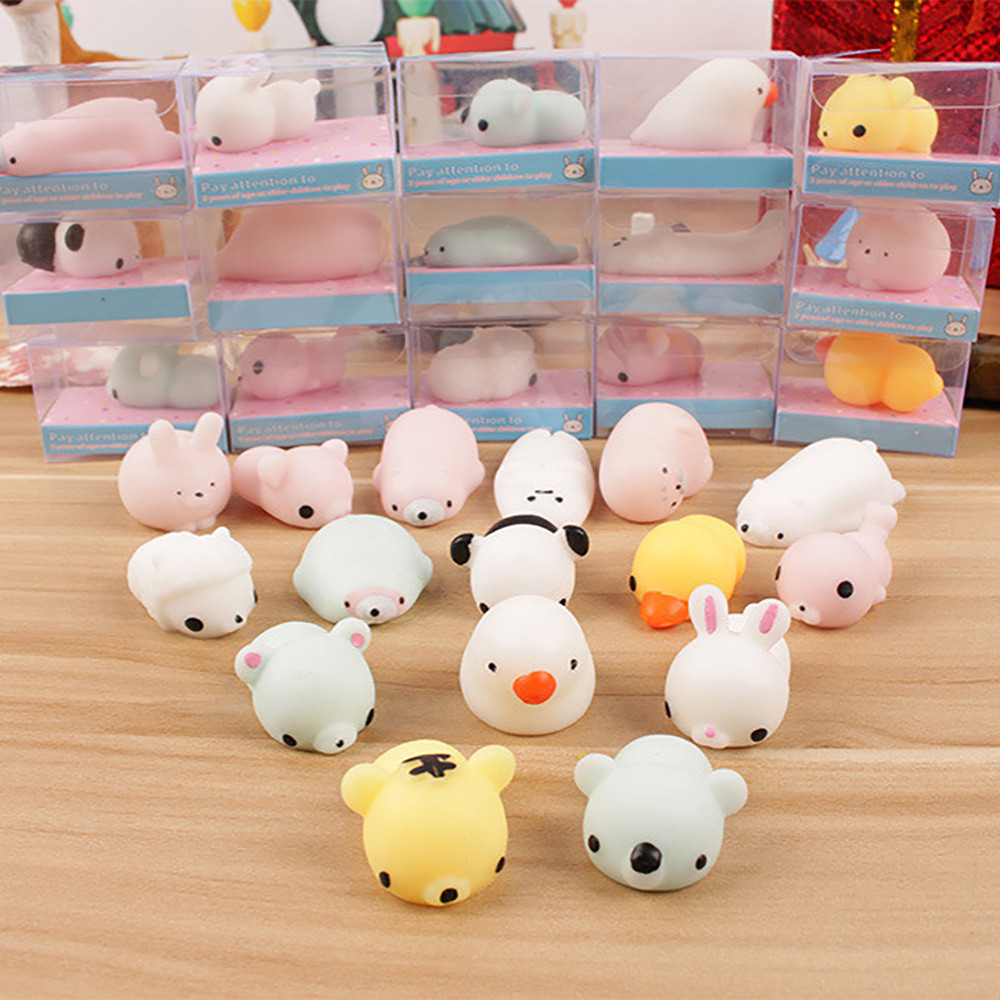 Kawaii Toy Reliver Stress It Fidget Squeeze Mochi Cat Fun Funny Adult Kids Child Cute img5