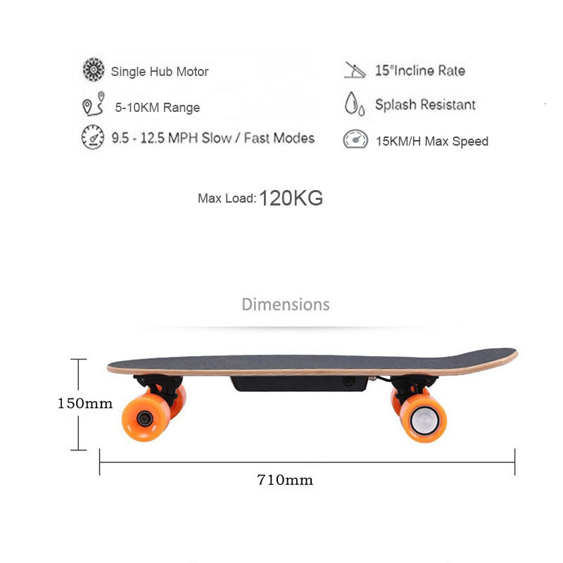 Ship from USA Europe Four Wheel Electric Skateboard Wireless Remote controller Scooter Plate Board hoverboard unicycle (10)
