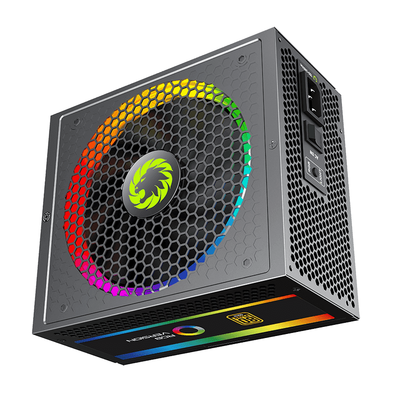 GameMax 1050W Power Supply Fully Modular 80+ Gold Certified with Addressable RGB Light - Vairous Color Mode, RGB-1050-Rainbow 3