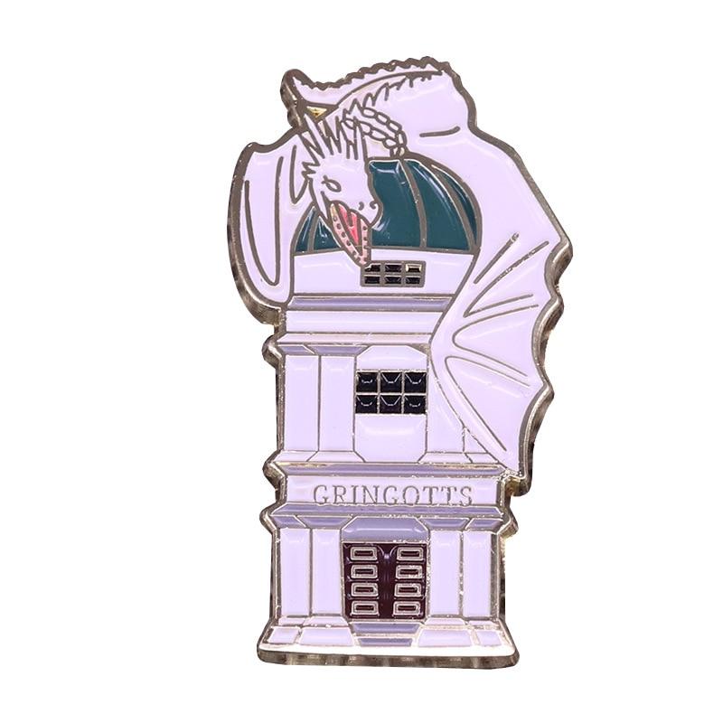 P5350 Dongmanli белый дракон Твердые эмалированные булавки значок Рюкзак воротник отворот для женщин и мужчин милые ювелирные изделия