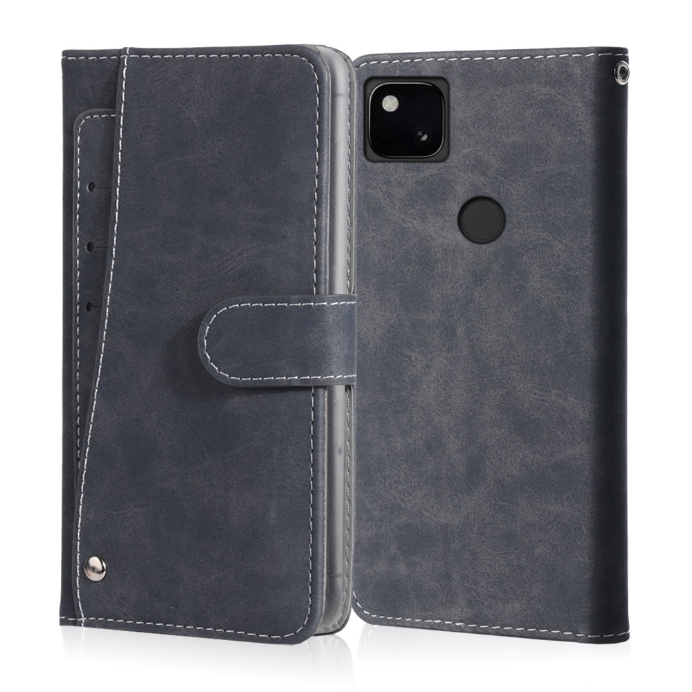 Luxury Vintage Case For Google Pixel 4A 3A 2 3 XL Case Leather Flip Wallet Card Stand Magnetic Book Phone Cover