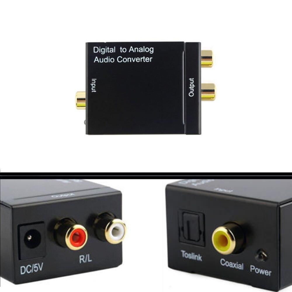 SPDIF Digital To Analog Audio Converter DAC Amplifier Decoder Fiber Coaxial Coax Audio RCA Signal To Analog L/R Audio Adapter