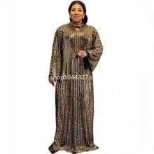 Robe Maxi africaine musulmane à paillettes, Sexy, longue robe de soirée, luxe, Slim, Bazin Riche, nouvelle collection
