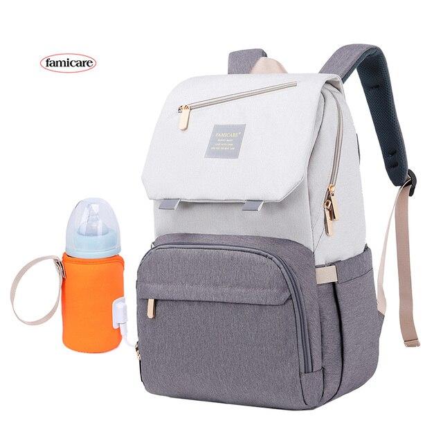 2021 New Diaper Bag Mummy Maternity Backpack Baby Stroller Knapsack Waterproof Handbag Nursing Nappy Rucksack Kid Going Out Bags