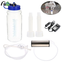 Sheep cow portable pump vacuum milking machine pointers for goats cows electric impulse controller fresh milk milking machine