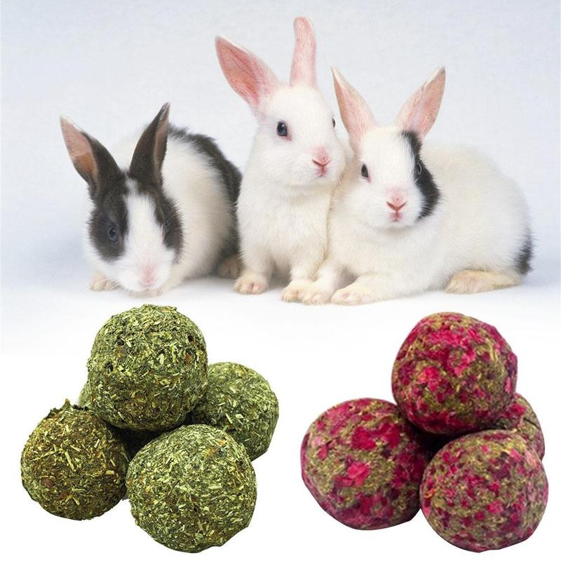 Handmade Natural Grass Cake Grass Ball Snack For Pets Rabbit Guinea Pig Chinchilla Alfalfa Molar Carrot Ball Pet Food Products