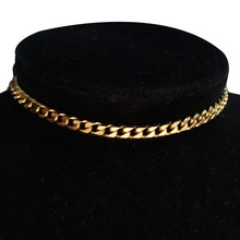 High Quality Punk Cross Choker Necklace Women Collar Statement Gold Color Stainlesss Steel Short Box Neck Chain Steampunk Women
