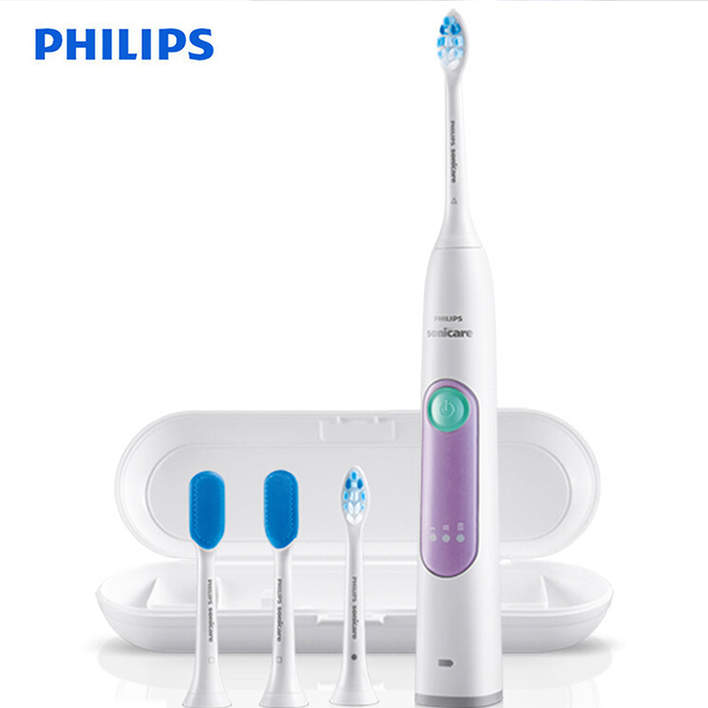 Philips HX6616/50 Sonic Vibration Electrict Toothbrush with Endurance Charging for 24 Hours Using 3 Weeks Waterproof for Adults image