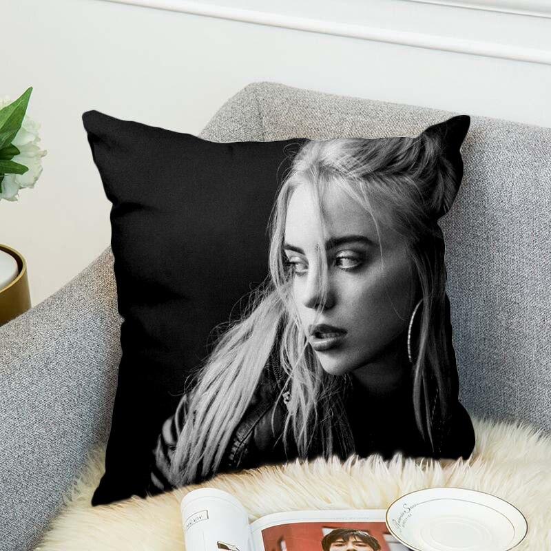 Купить с кэшбэком billie eilish Pillow Case Polyester Decorative Pillowcases Throw Pillow Cover style-5
