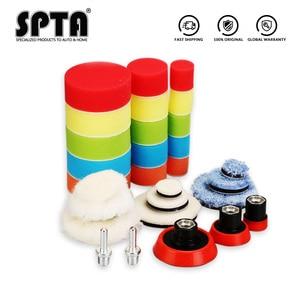 Image 2 - SPTA Detail Polishing Pads Drill Buffing Pads  Backing Pad & Adapters for Car Sanding, Polishing, Waxing, Sealing Glaze