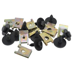 Image 4 - 40pcs Chassis Engine Guard Metal Nut/Screw Washers U shape Clip Car Fender Bumper Cross Head Screws For BMW E46 E92 E90 F10