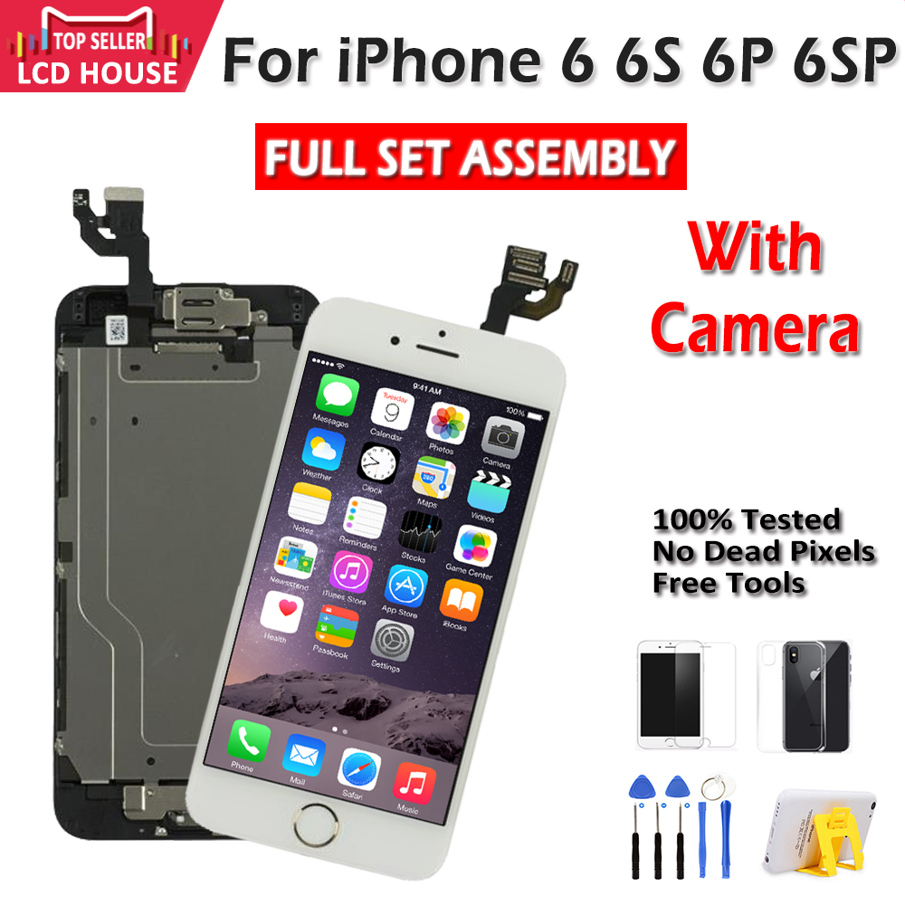 Full Set Assembly LCD For IPhone 6 6S 6 Plus 6S Plus Touch Digitizer Screen Display Complete Replacement With Camera Home Button