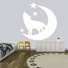 Vinyl Wall sticker Wolf Dog Animals anime wall decal Tattoo Wolf Wolves Decals for Office Murals Home Decoration sticker HQ090 dog 56 cute paw heart wall sticker creative cartoon cat dog lover vinyl wall decal home