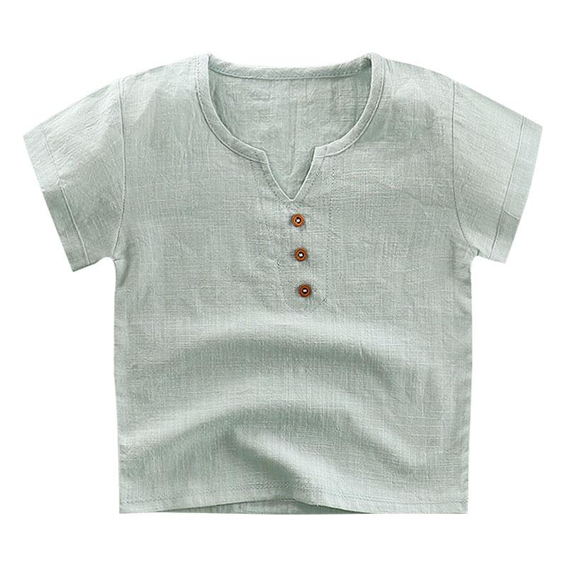 Children T-shirt For Boy 2020 Linen Boys T Shirt For Girls Tops Cotton Kids Tshirt Clothes