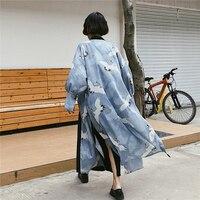 Harajuku Kimono Female Loose Sunscreen Kimono Cardigan Women Traditional Japanese Kimonos Cosplay Traditional Clothing SL1322